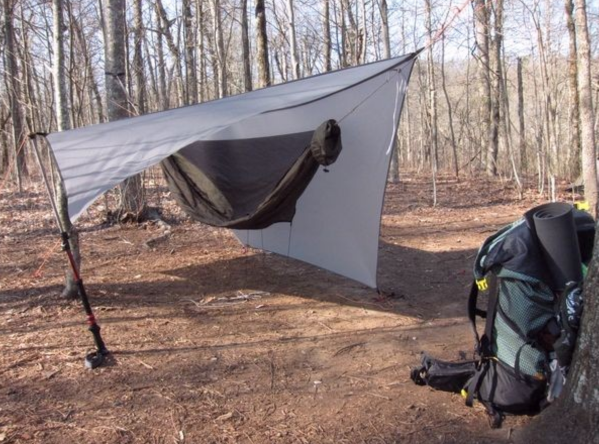 camp site with hammock