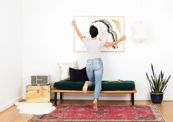 How To Hang Large Framed Art With Corner Brackets