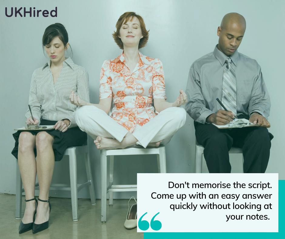 don't memorise job interview script