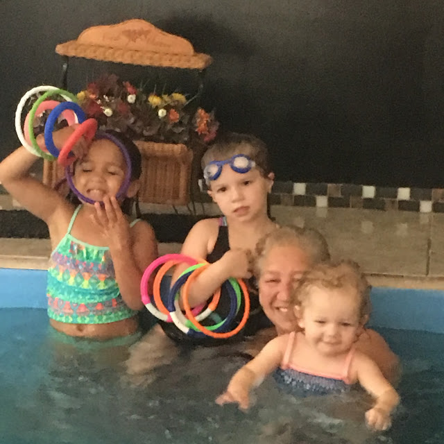 Linda and her granddaughters in her Original Endless Pool