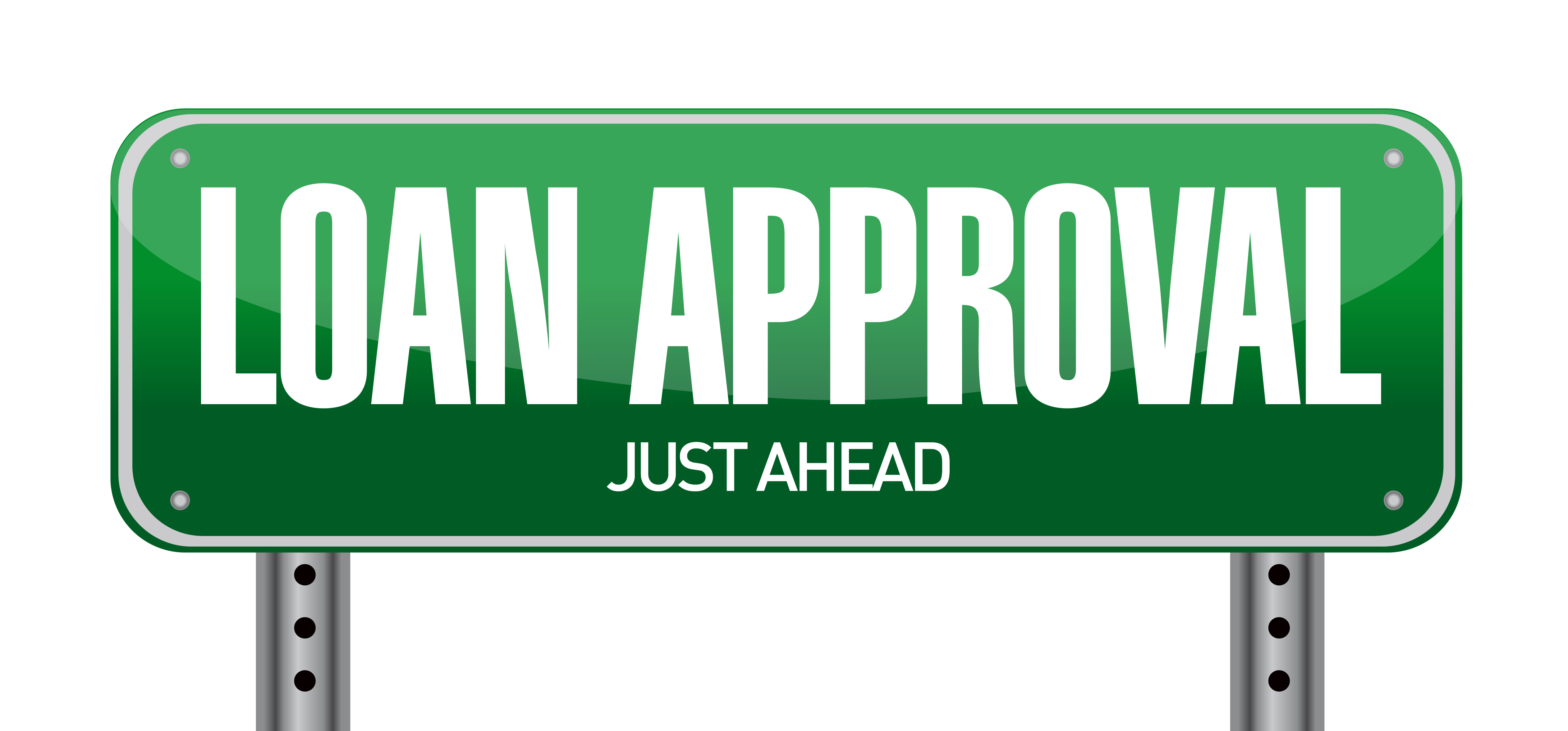 loan approval sign