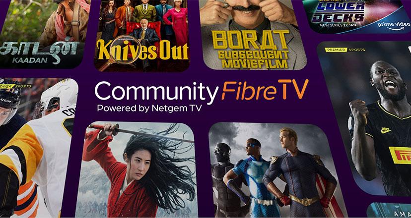 Community Fibre TV hero