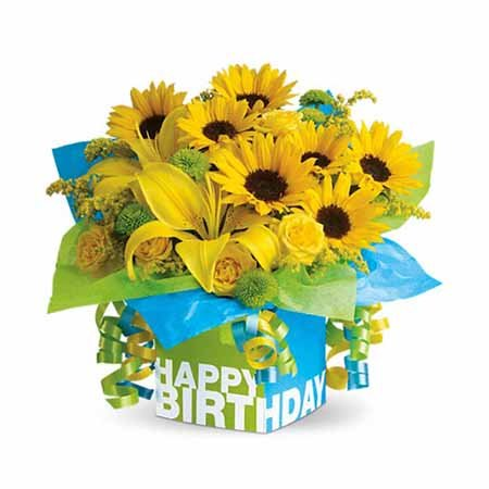 Birthday flowers for wife yellow daisy yellow sunflower bouquet