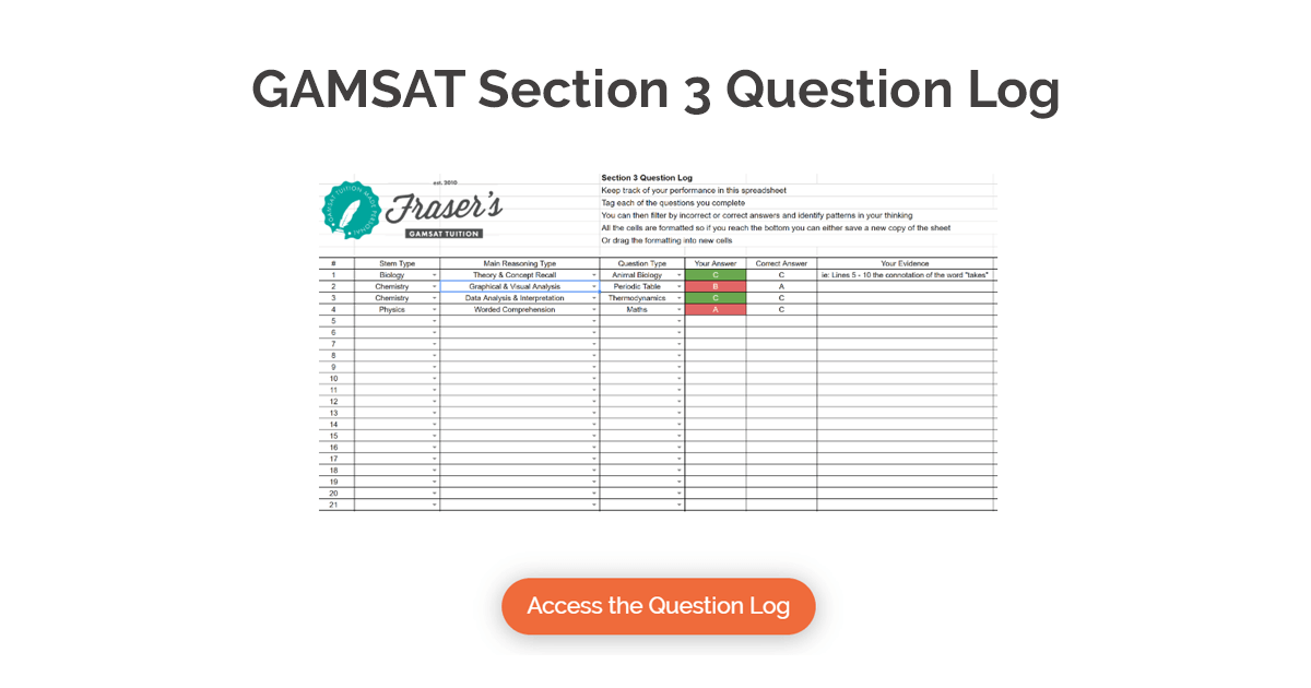 section 3 question log