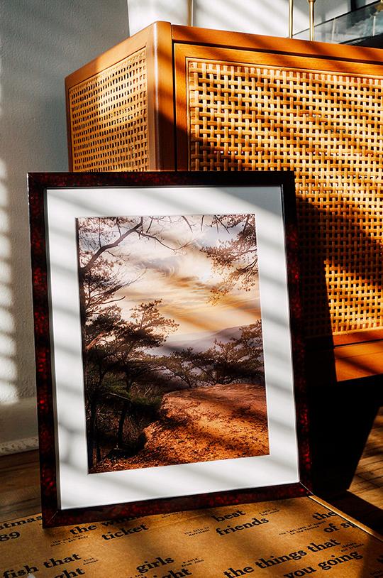 photo of burgundy frame
