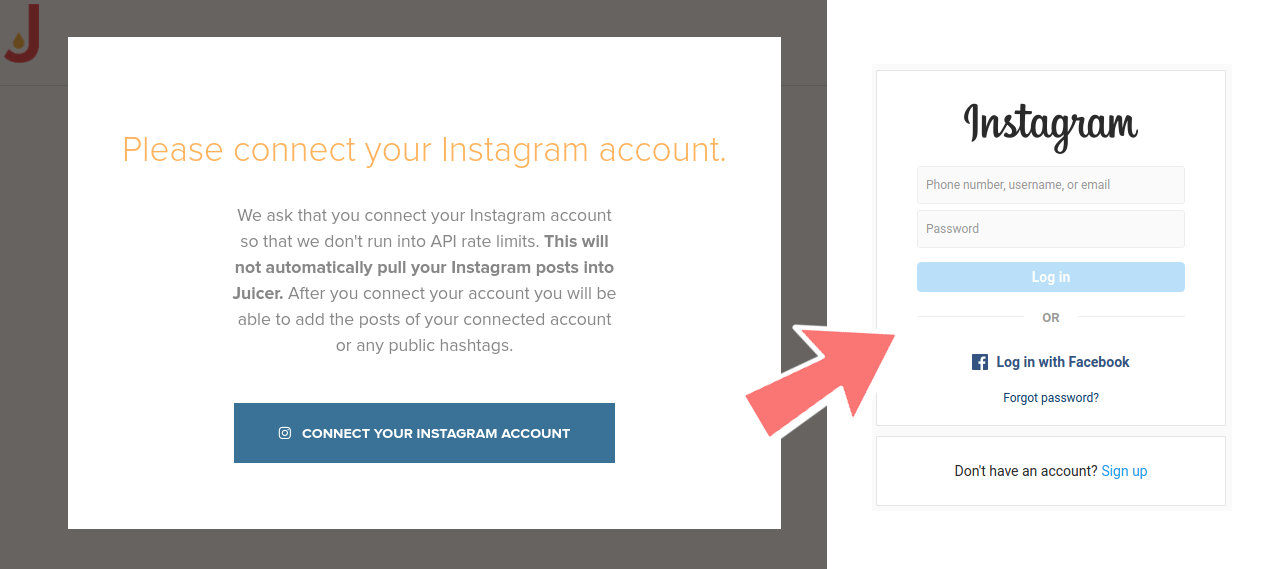 Add your Instagram account