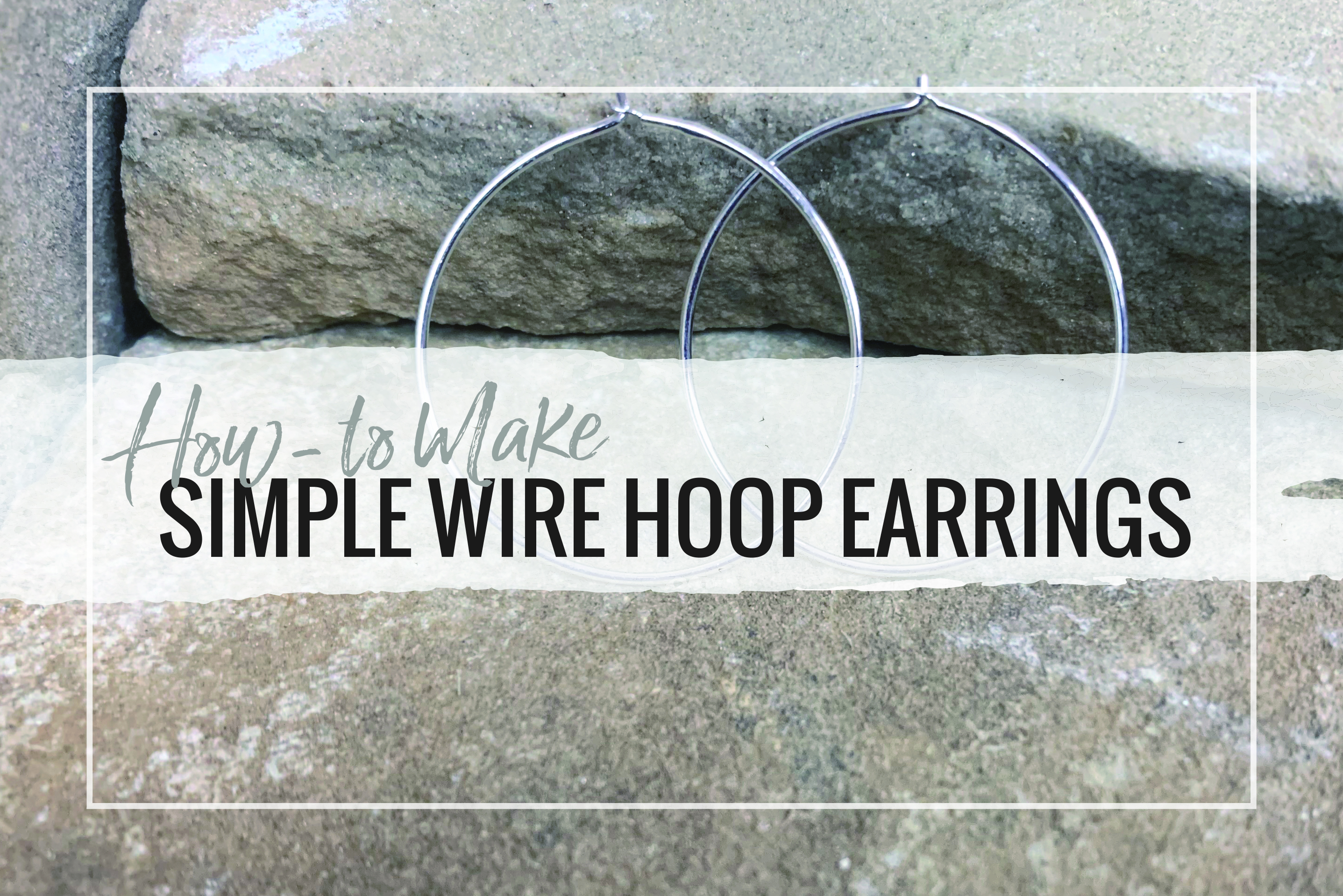 Create simple hoops using sterling silver wire! Hoops are a staple in earring collections and can be made in a large variety of sizes.