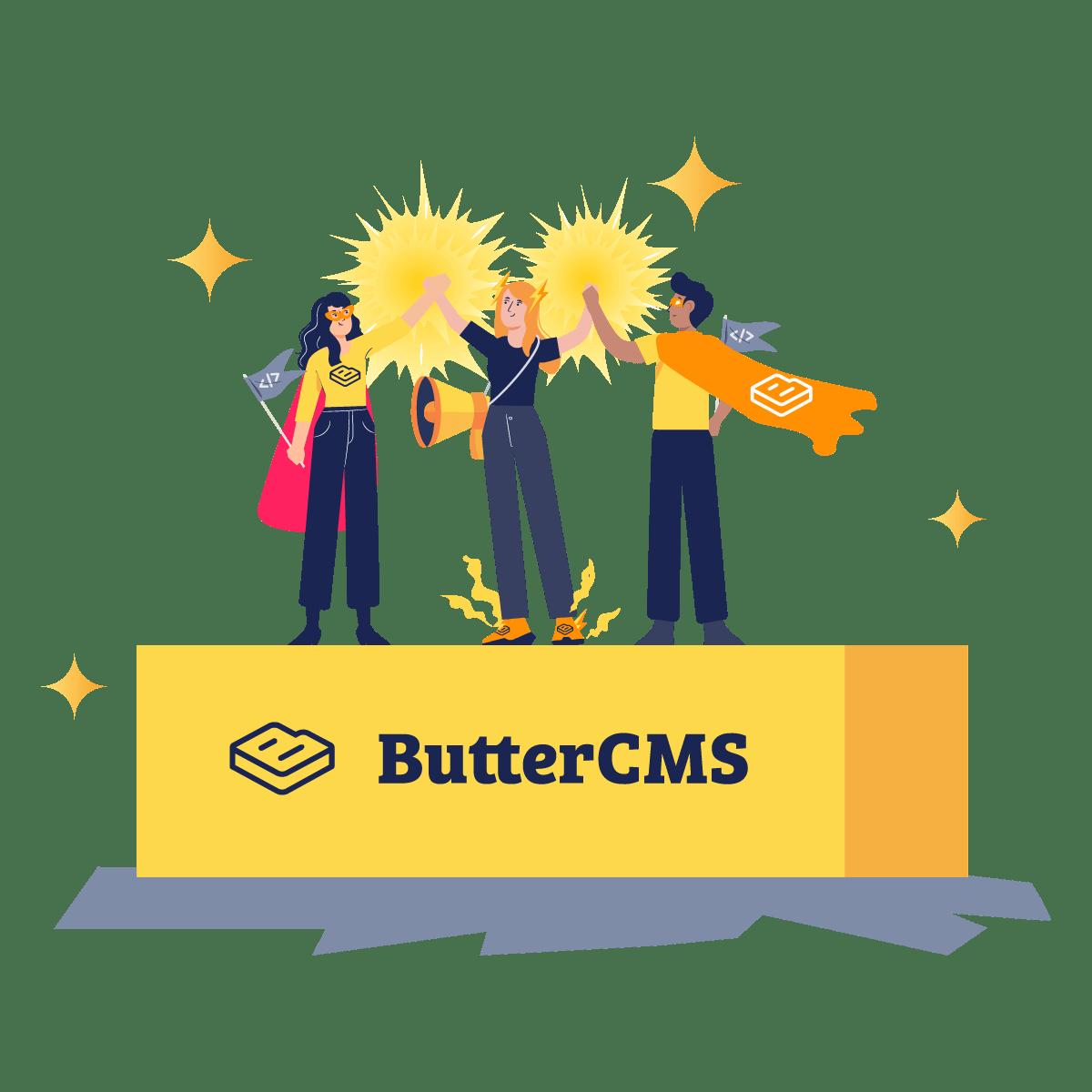 Illustration: ButterCMS API-based headless CMS