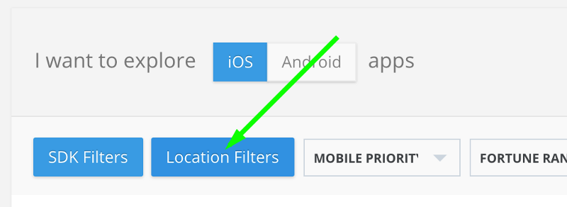 Location Filter on MightySignals SDK Data Feed