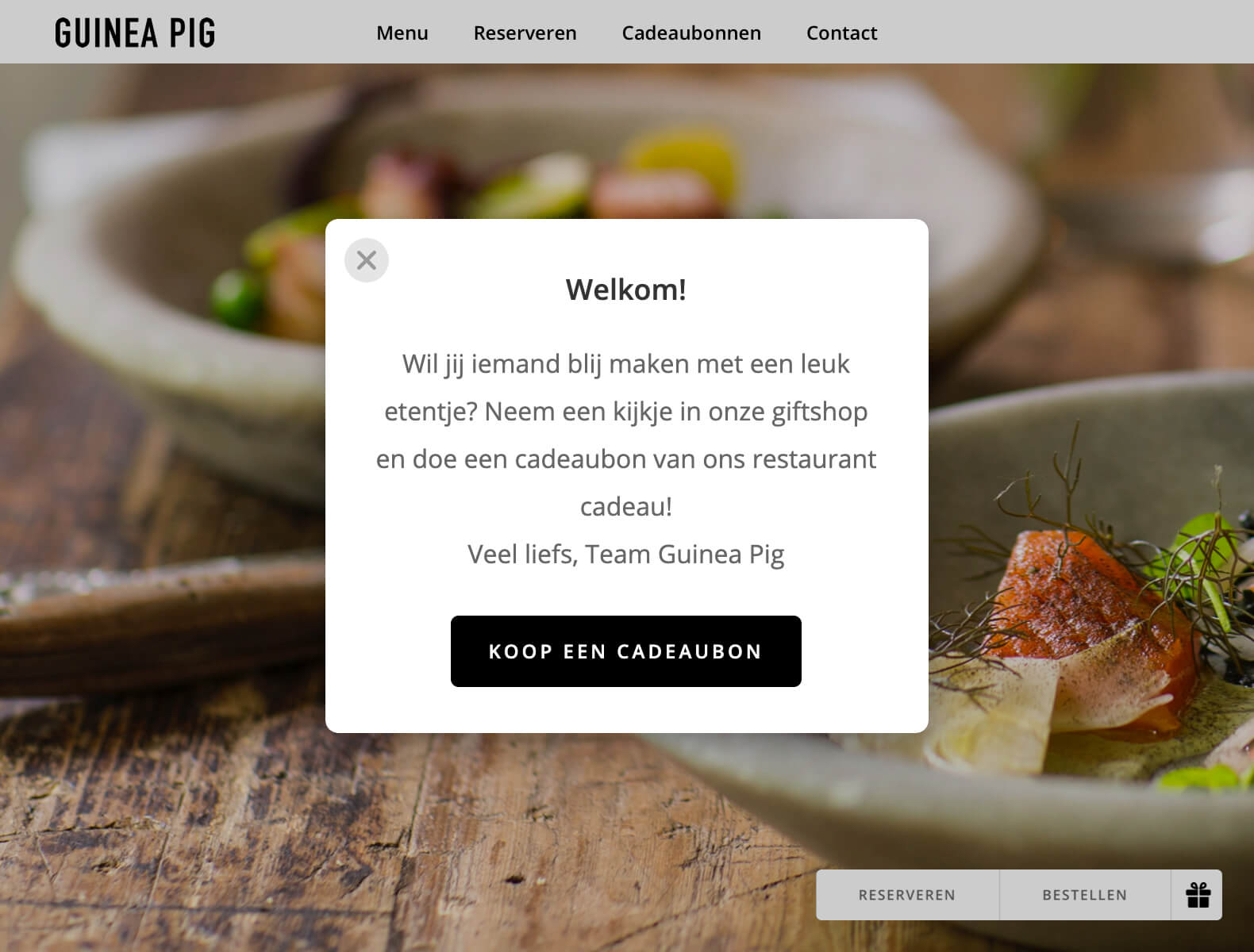 Plaats een promotionele pop-up op je website