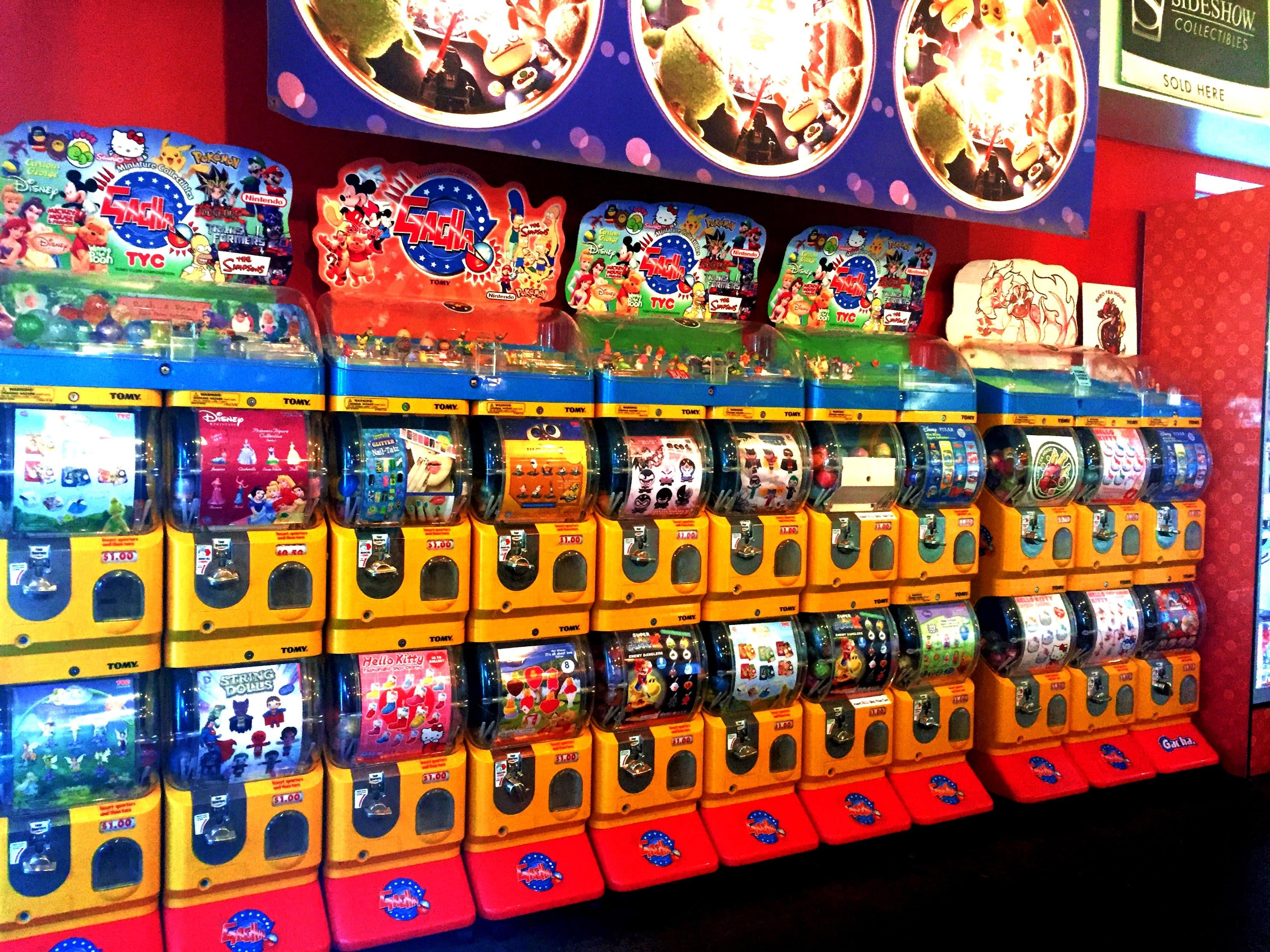 vending machine toys in Japan