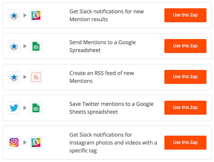 Zapier automatically track brand mentions