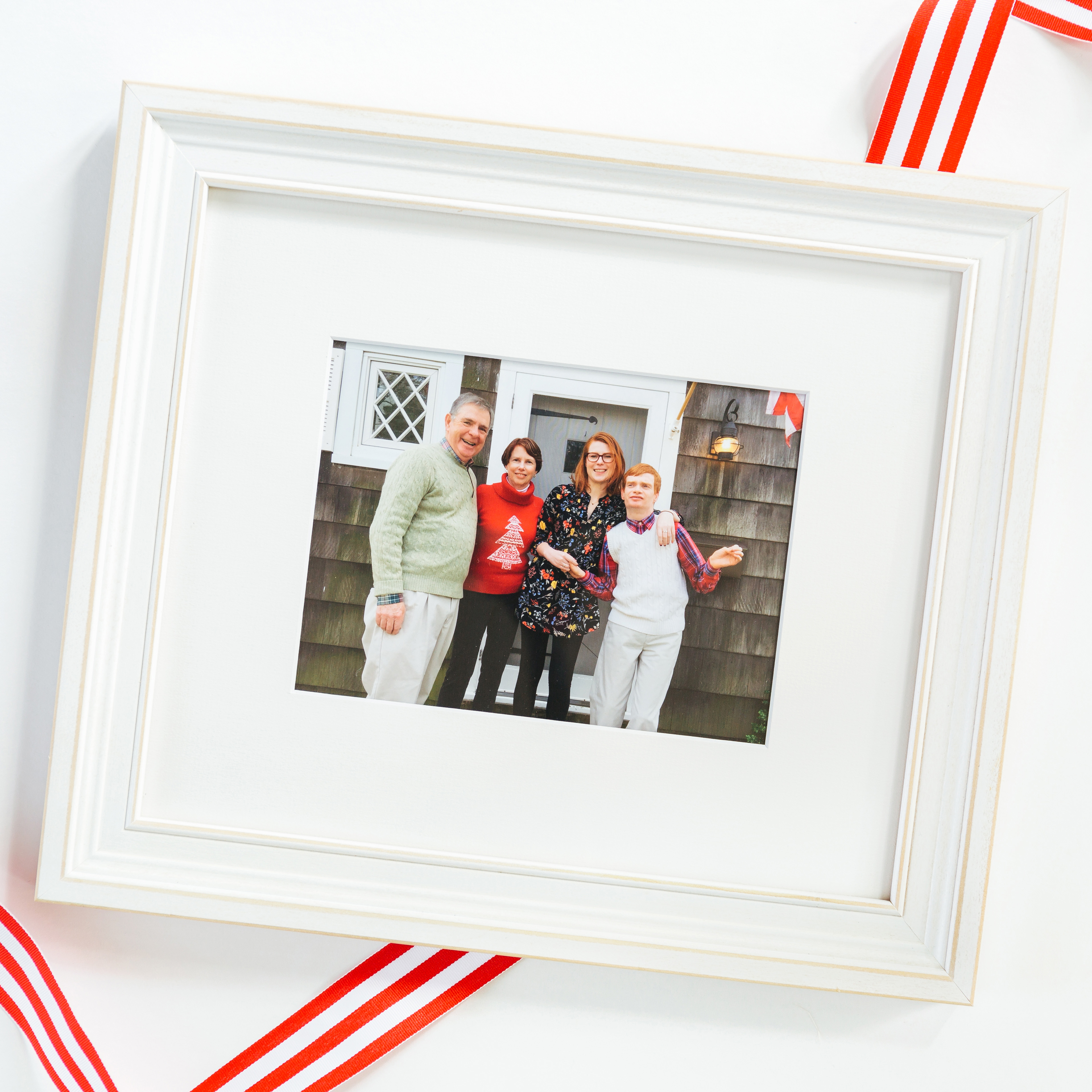 Family Photo in White Montauk Frame