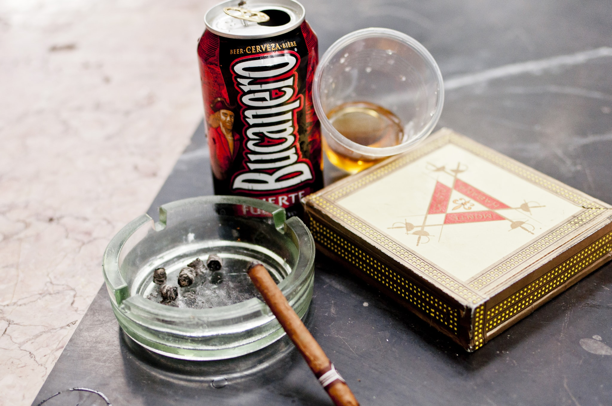 Cigar and rum bring back from Cuba