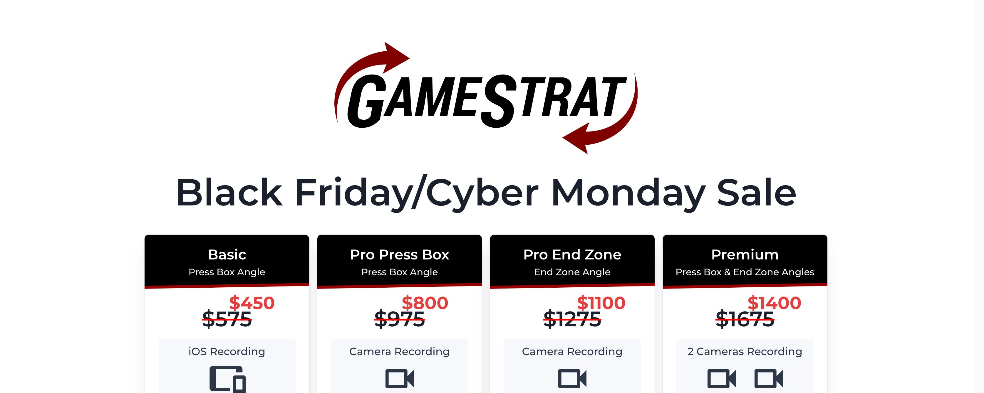 GameStrat Black Friday/ Cyber Monday Sale