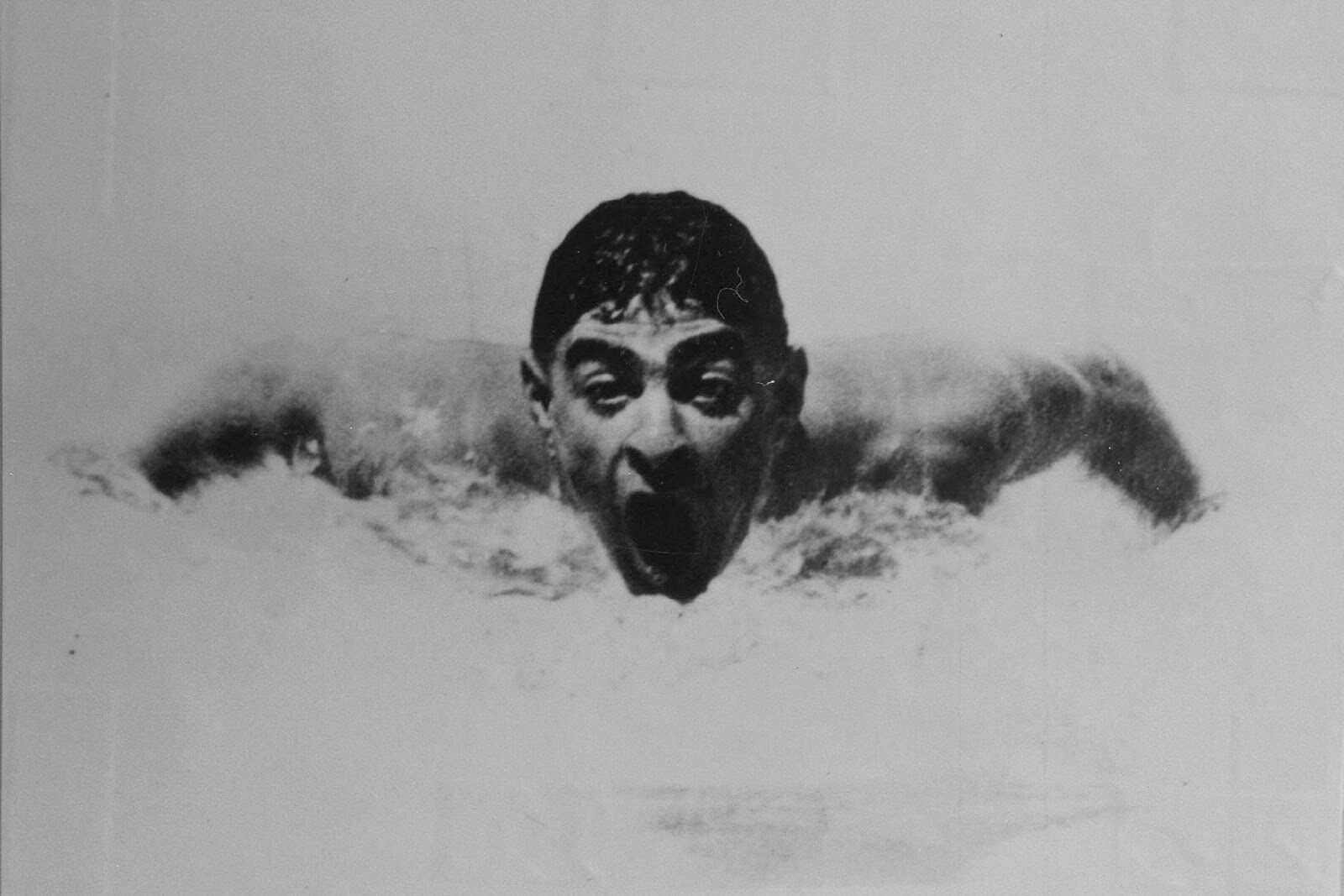 Olympic swimmer Alfred Nakache in action