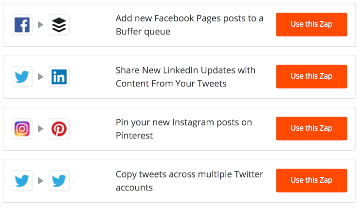 Zapier cross posting social media automation