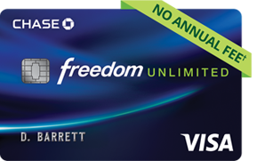 Cjhase Freedom Unlimited credit card