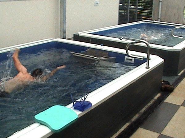 two Endless Pools swimming machines at Waikato University
