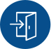 Ícone com o desenho de uma porta com uma seta indicando que é permitida a entrada que representa a área de seja cliente Ultragaz