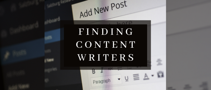 find writers content