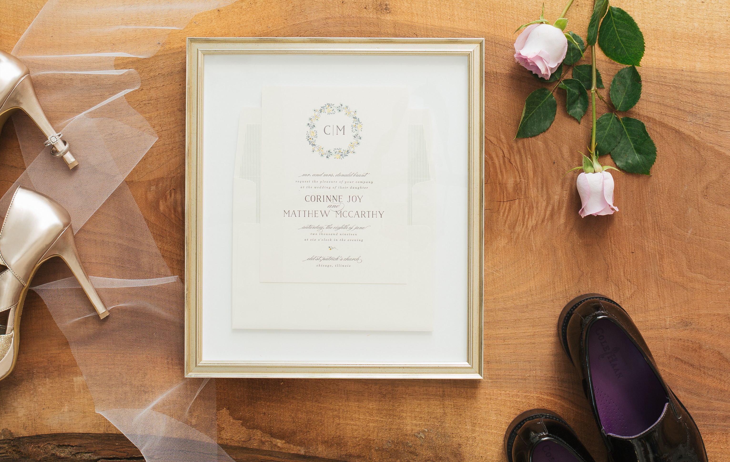 How To: Frame a Wedding Invitation