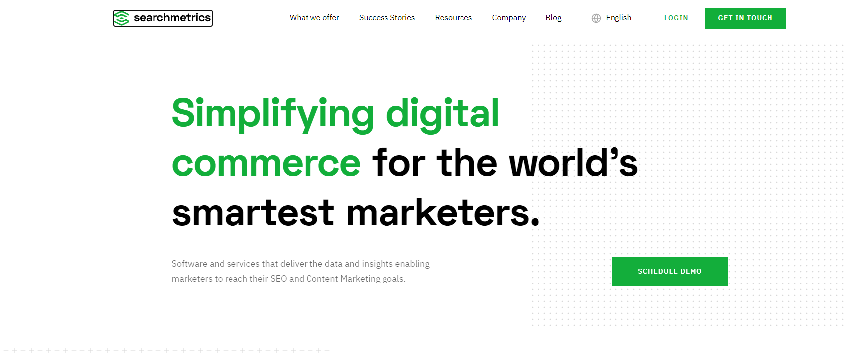 Searchmetric Homepage