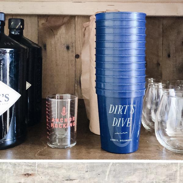 monogrammed bar cups
