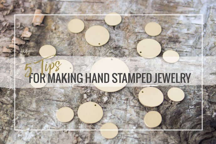 Read our how-to guide to get started with metal stamping your own jewelry designs using metal blanks, stamps and hammer. We've included stamping tips, too!