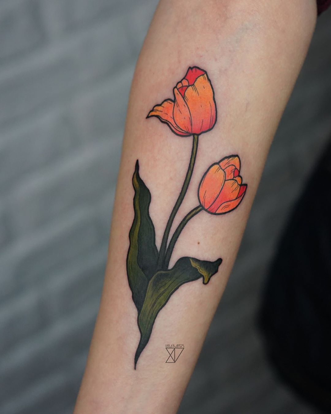 illustrative tulip tattoo
