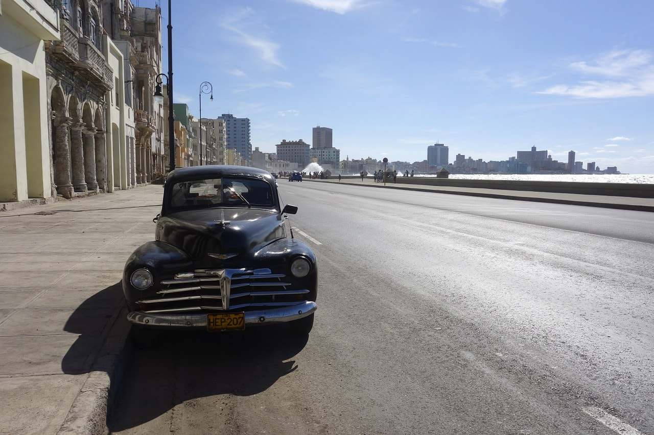 cuba car on streets