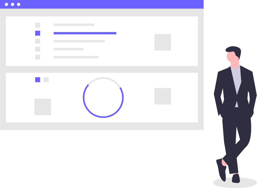 illustration of finished site built on buttercms and gridsome