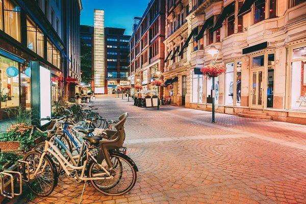 View of European street