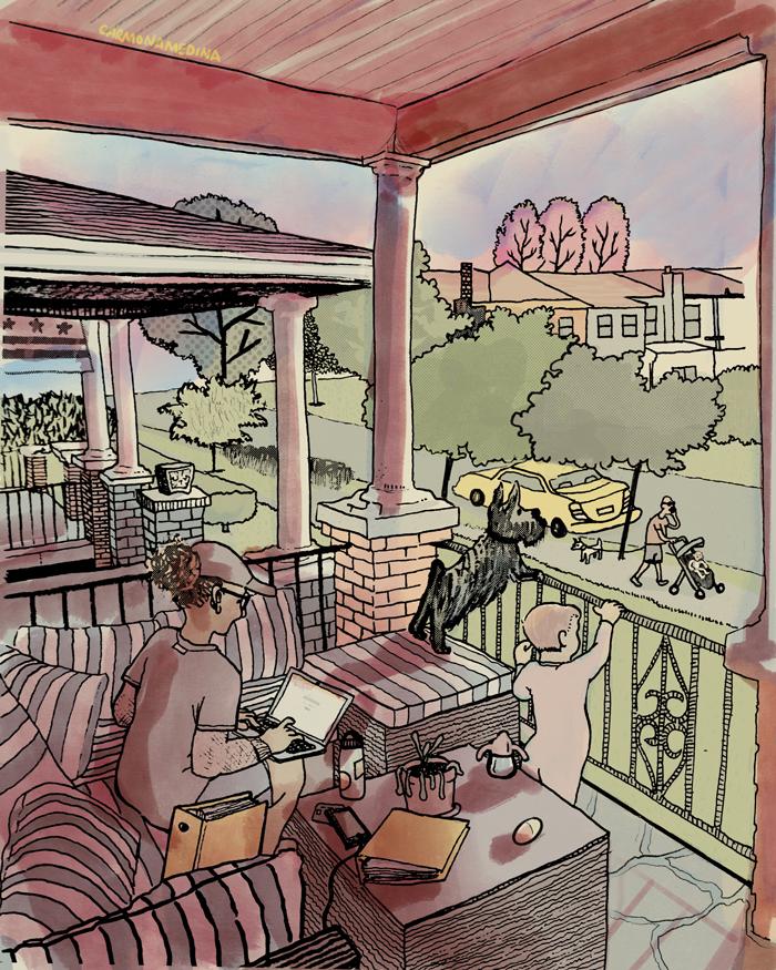 illustration of porch