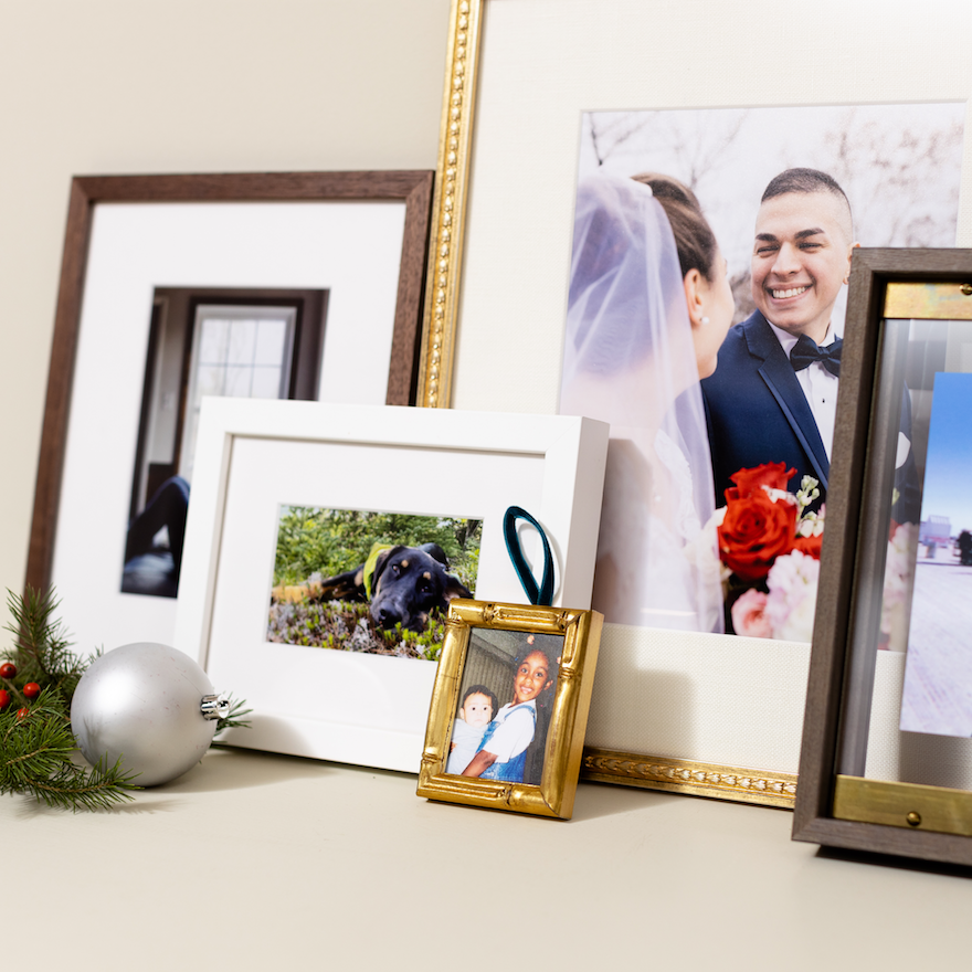 selection of framed photos