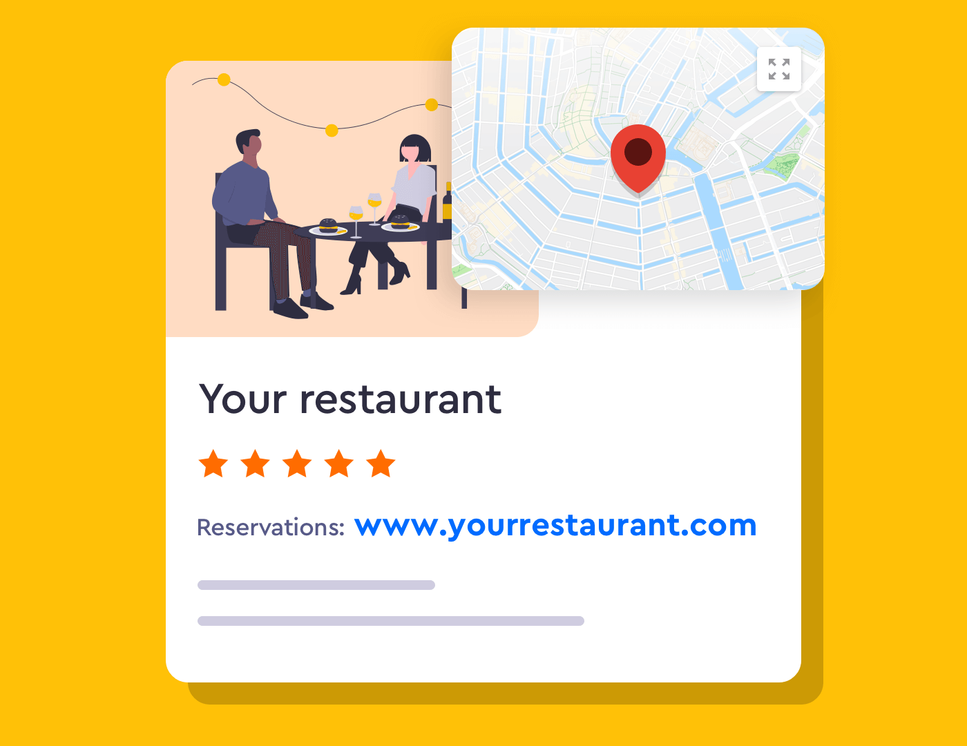 Adding a reservation link on Google