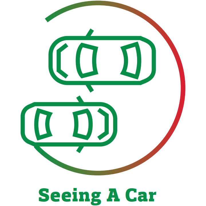 seeing a car icon