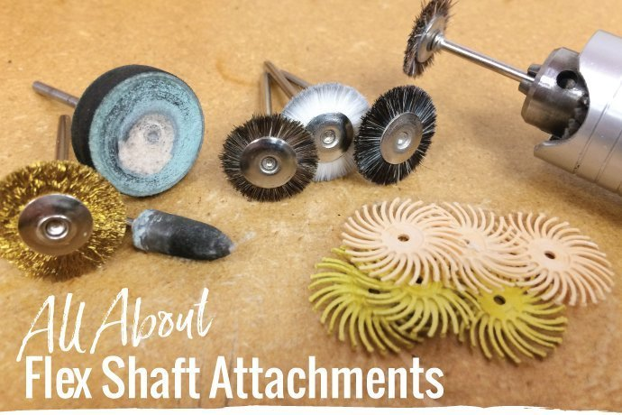 Flex shaft attachments can be overwhelming! Learn which ones you need in your jewelry studio along with techniques and tips for jewelry finishing.