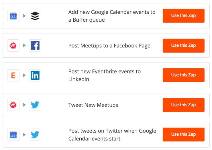 Zapier automated event promotion