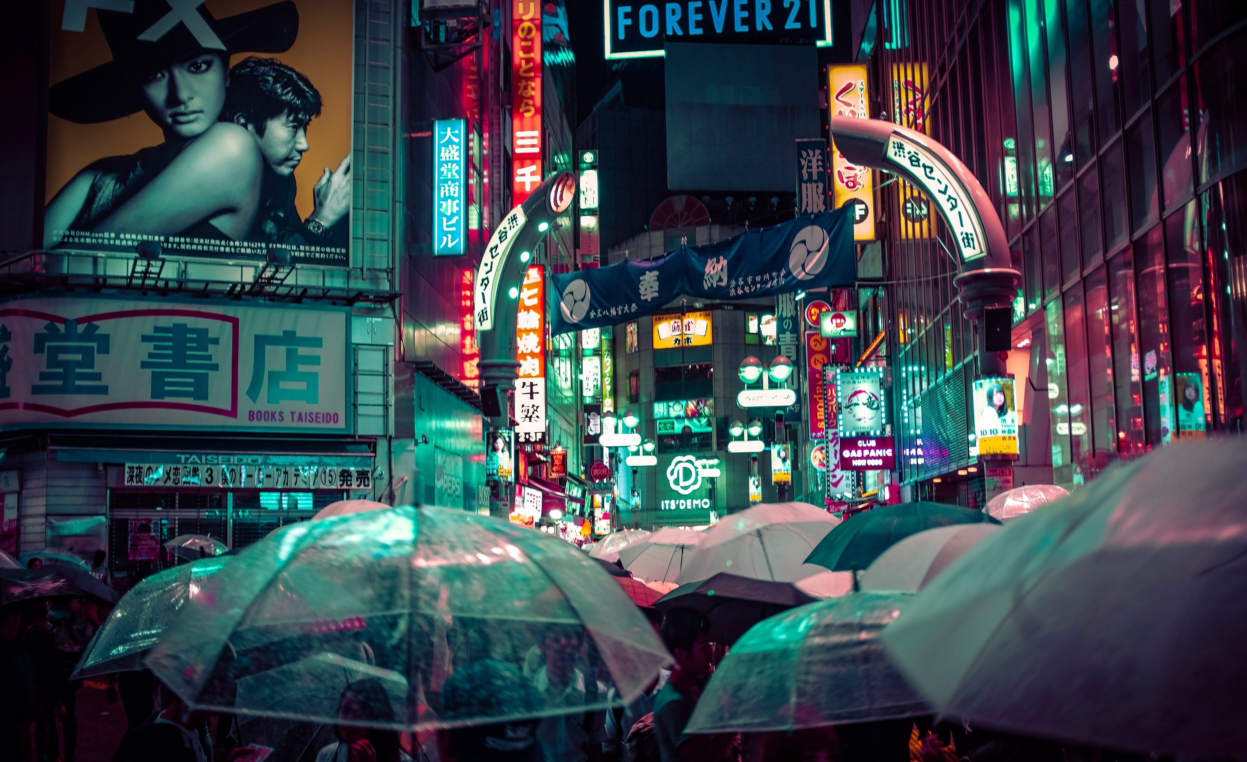 Umbrellas in Tokyo, one of the best cities to visit in Japan