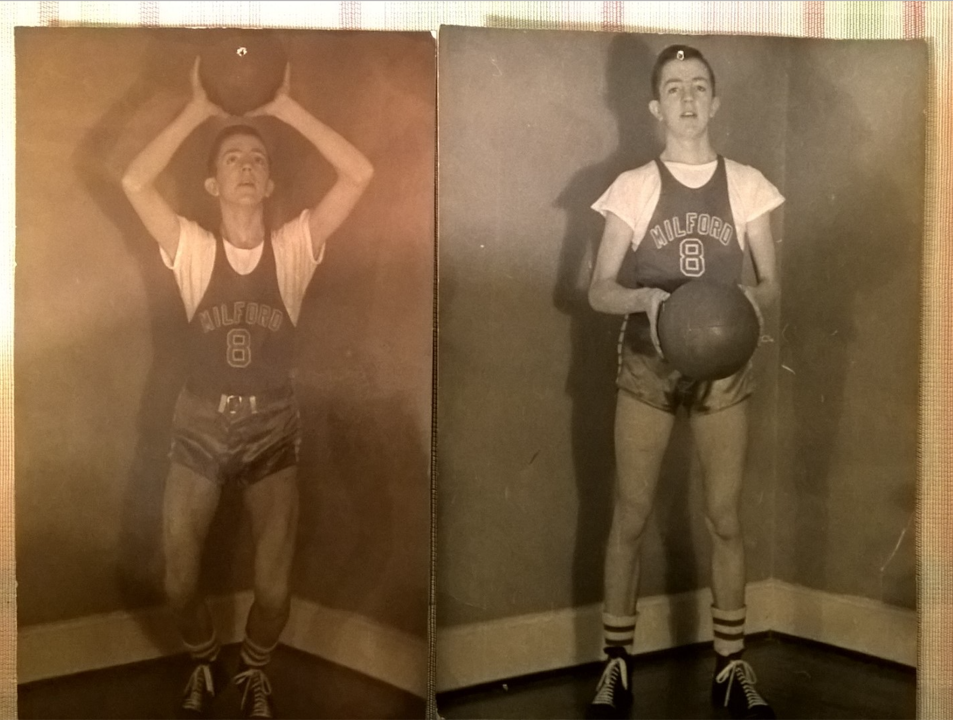 vintage photos of high school basketball player
