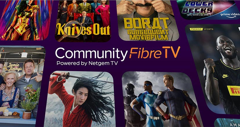 Community Fibre TV hero