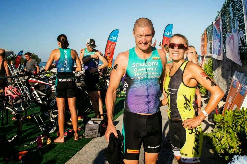 professional triathletes Luke McKenzie and Beth Gerdes