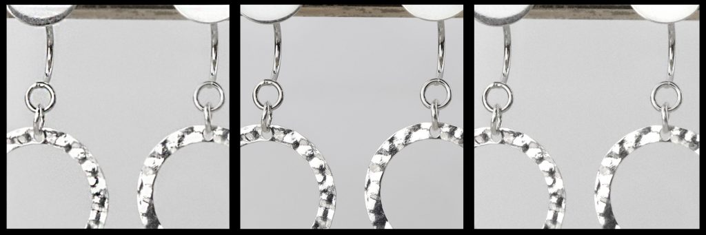 Examples showing various levels of sharpness and resolution in jewelry photos