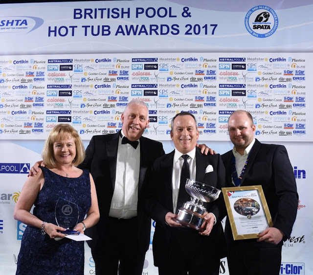 the team from Home Counties accepting awards for their Endless Pools installations