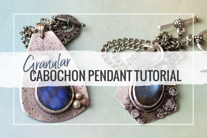 Learn how to create a custom granular cabochon setting in this easy pendant tutorial for your jewelry studio practice. Stretch your metalsmithing skills.