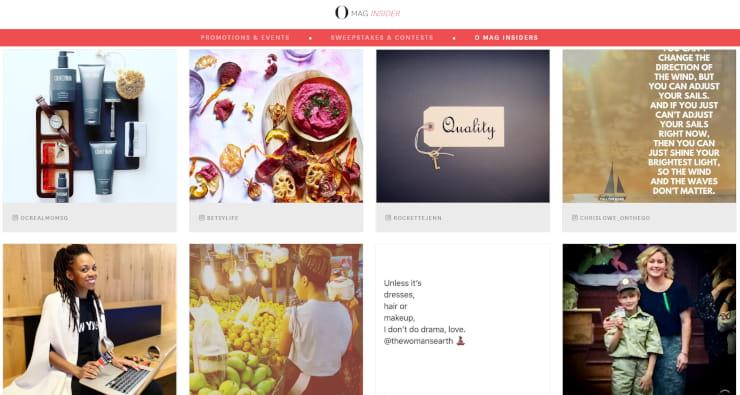 Embedded instagram feed O Magazine