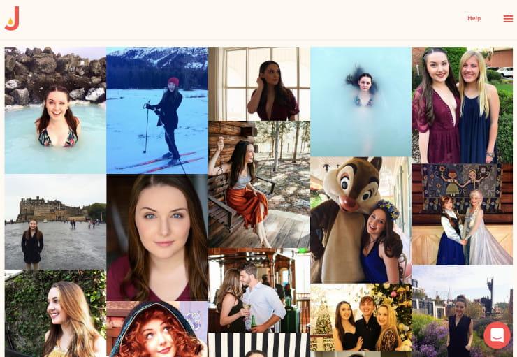 social media feed image grid style