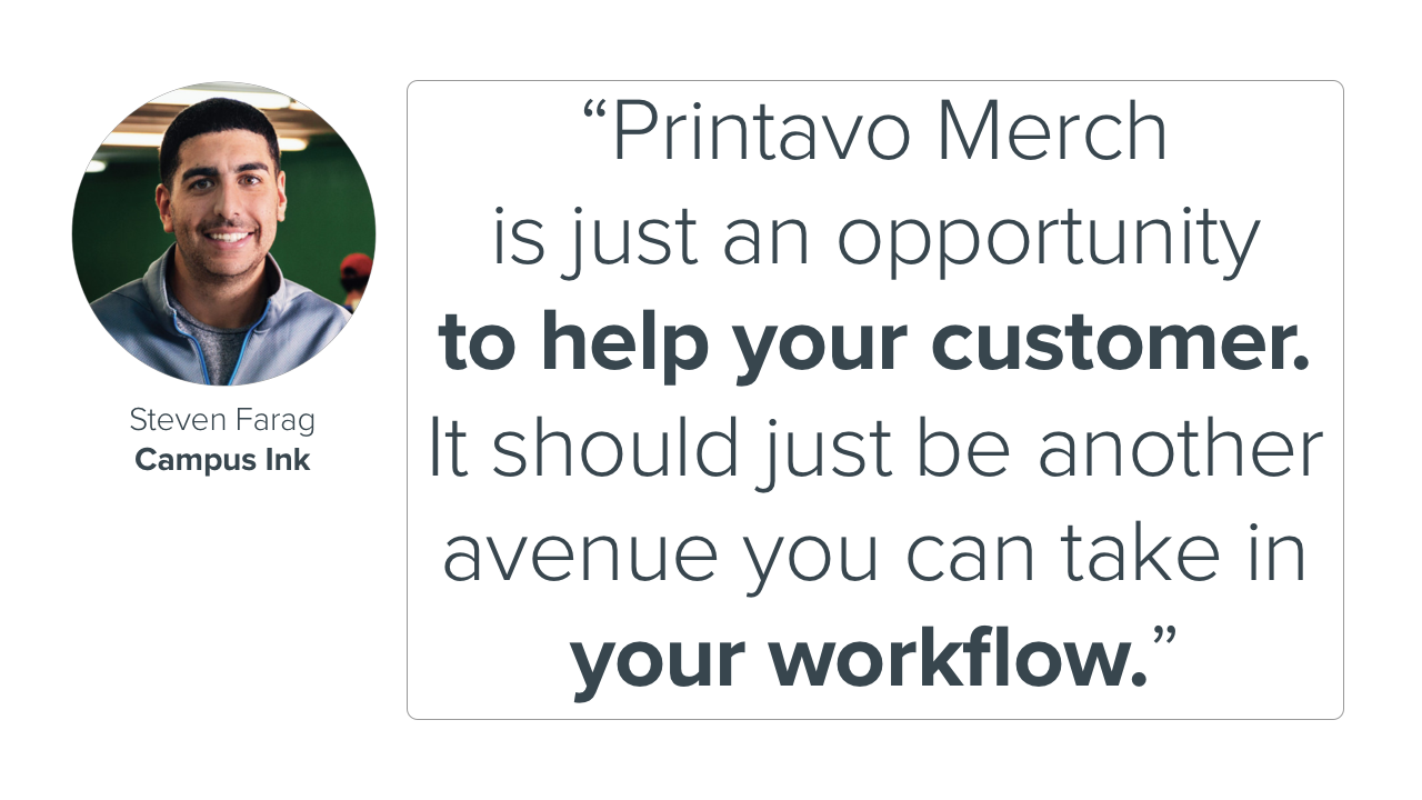 Steven Farag explains how Printavo Merch is part of his workflow.