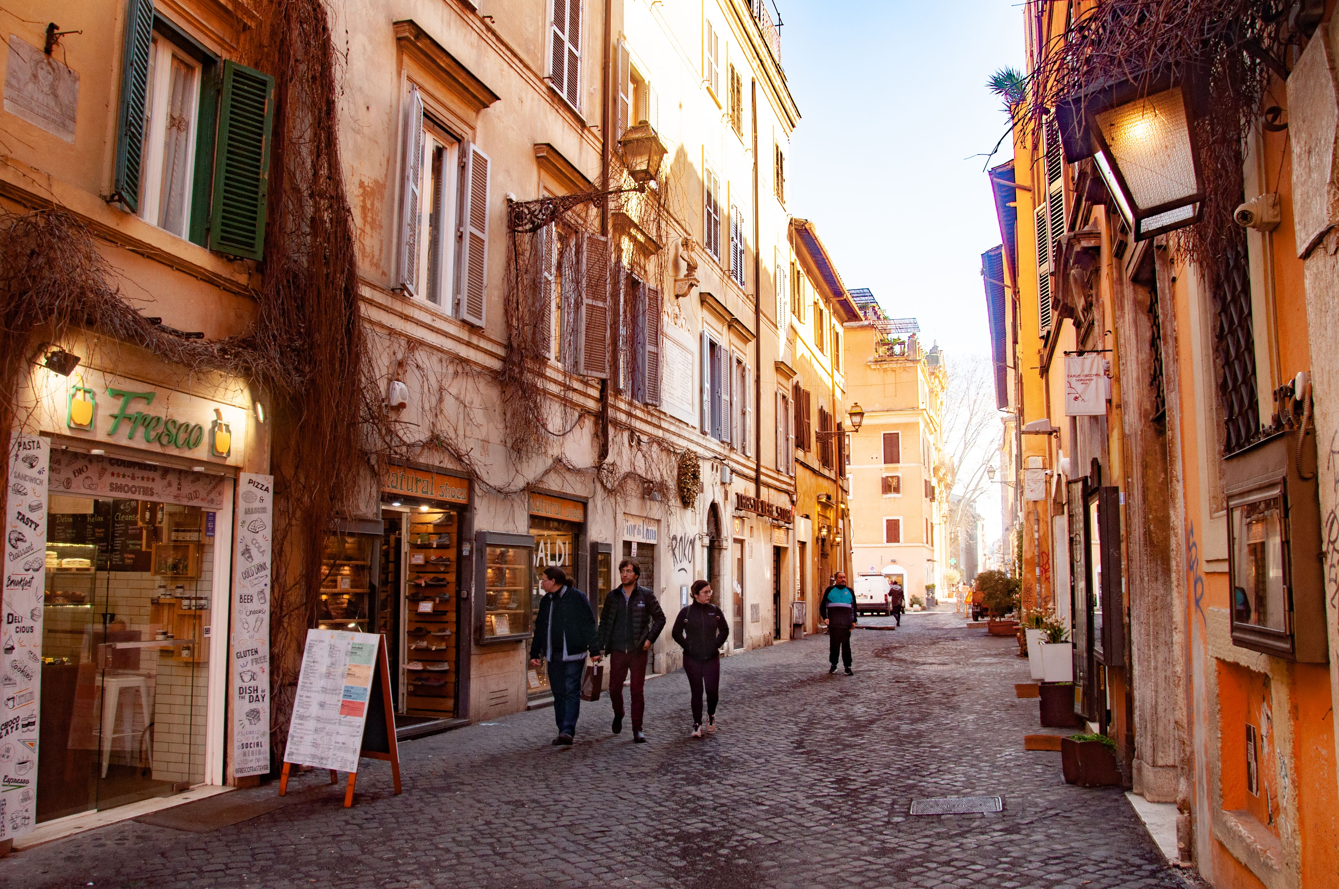 Exploring the Trastevere neighborhood in Rome is a hip thing to do in Italy